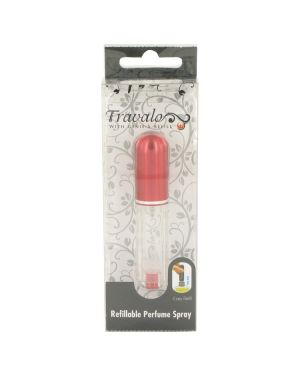 Travalo Travel Spray Mini Travel Refillable Spray with Cap Refills from Any Fragrance Bottle (Red) By Travalo-465027