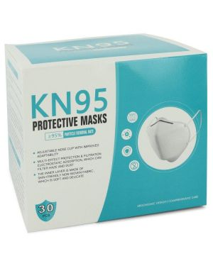 KN95 Mask by KN95 Thirty (30) KN95 Masks, Adjustable Nose Clip, Soft non-woven fabric, FDA and CE Approved (Unisex) 1 size for Women